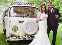 Bay Window Campervan for weddings in Horsham